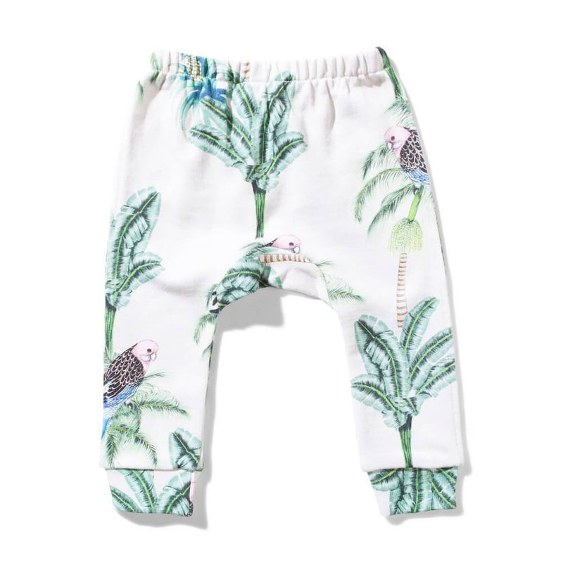 Missie Munster Pretty Bird Fleece Pant Baby Pants - Tiny People Cool Kids Clothes