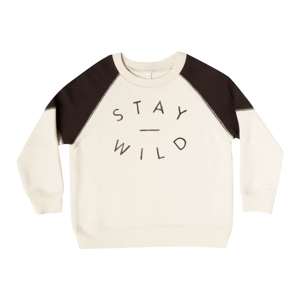 Rylee & Cru Stay Wild Raglan Sweatshirt | Tiny People