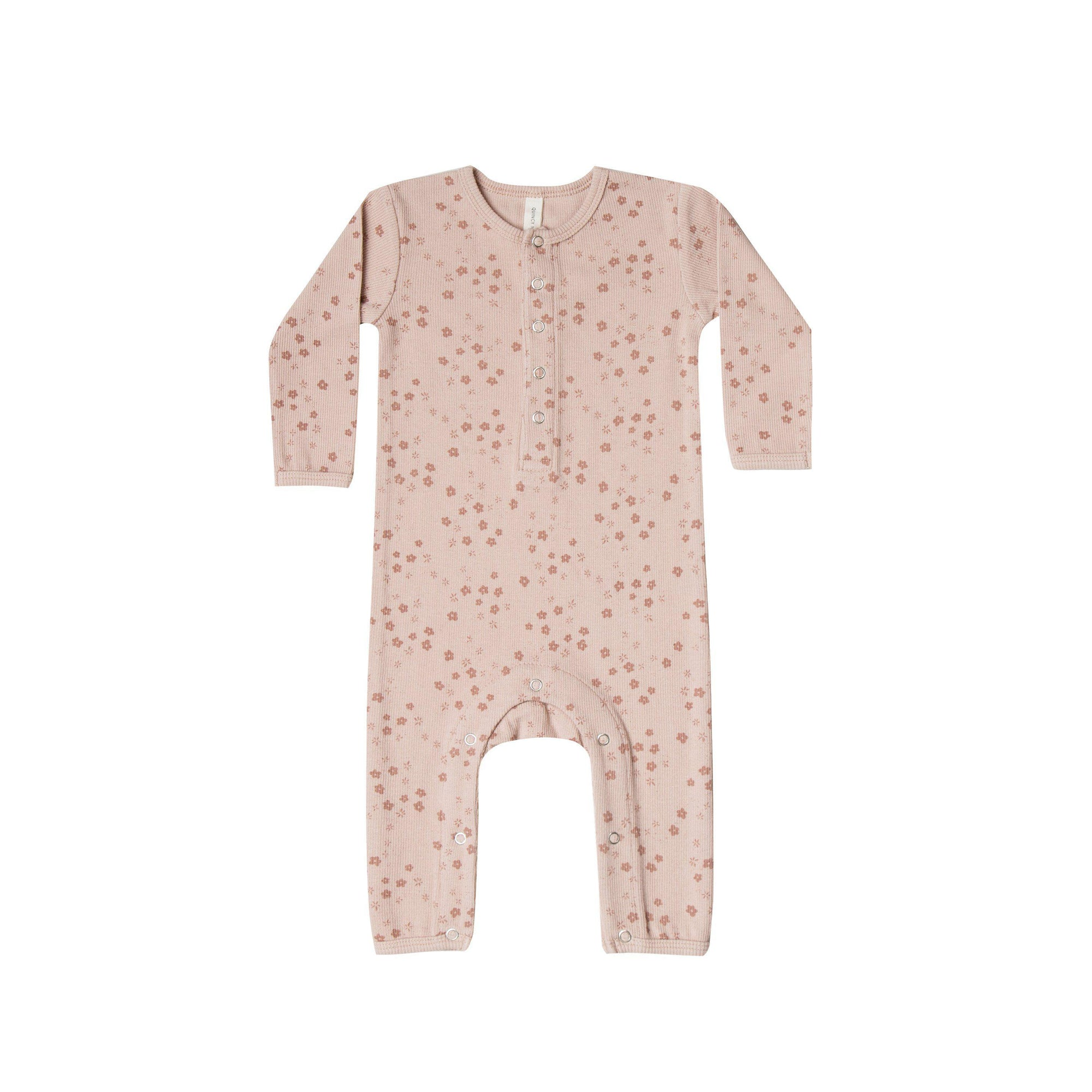 Ribbed Baby Jumpsuit Rose