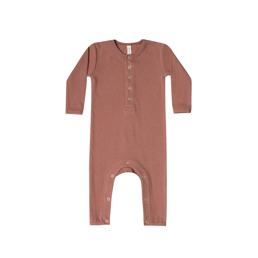 Ribbed Baby Jumpsuit Clay
