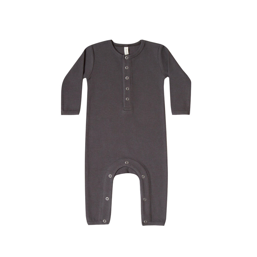 Ribbed Baby Jumpsuit Coal