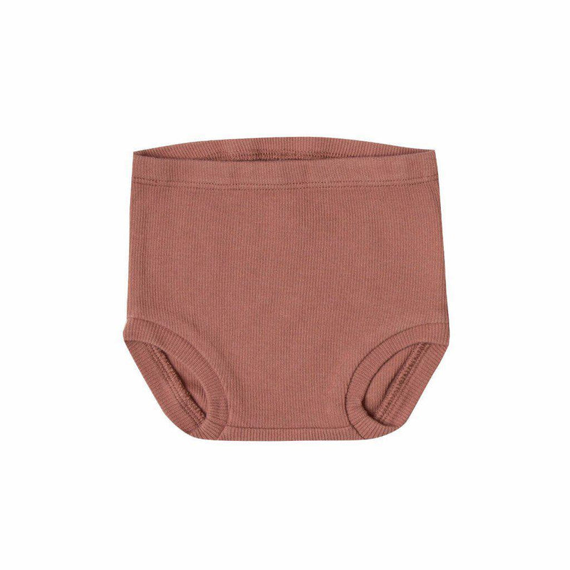 Quincy Mae Ribbed Bloomer Clay Baby Shorts & Bloomers - Tiny People Cool Kids Clothes