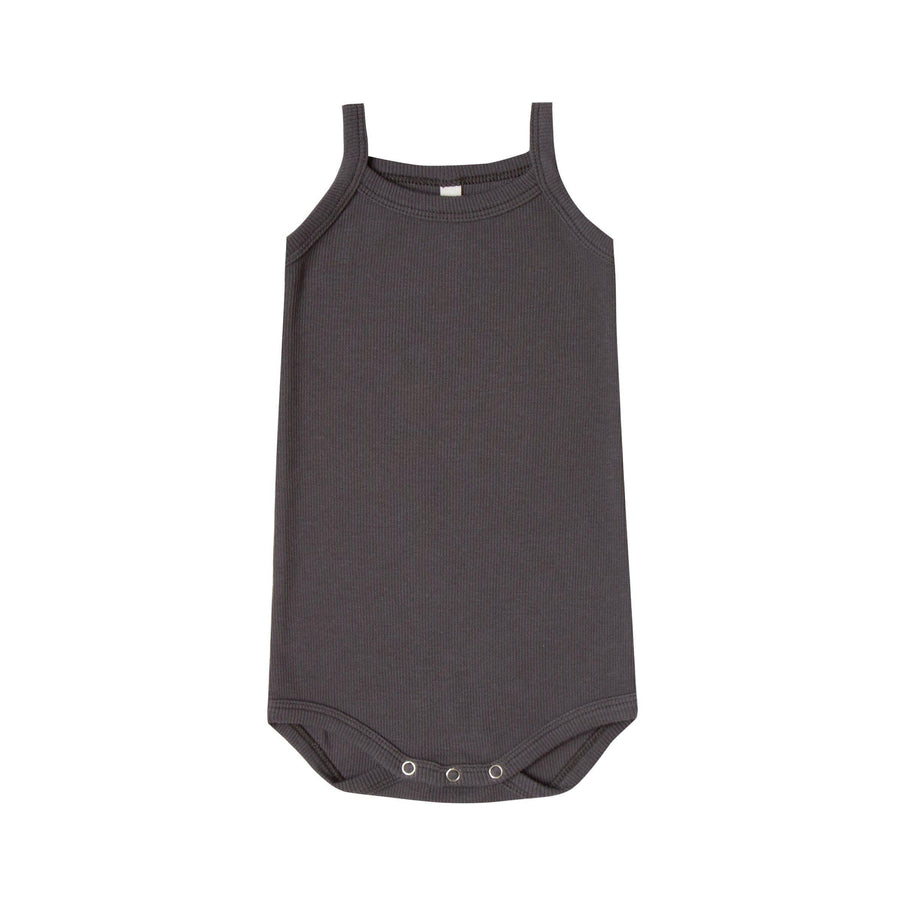 Ribbed Tank Onesie Coal