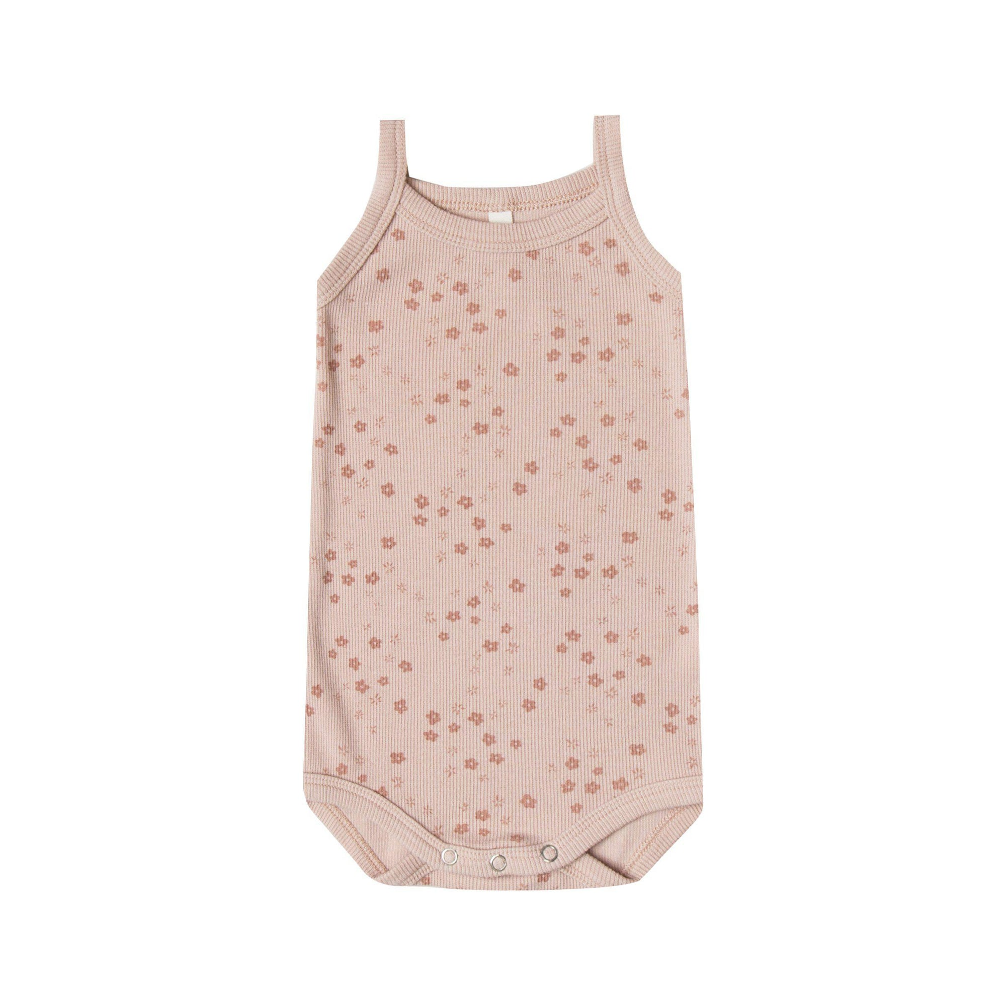 Ribbed Tank Onesie Rose