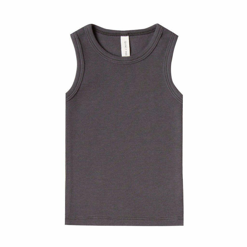 Ribbed Baby Tank Coal