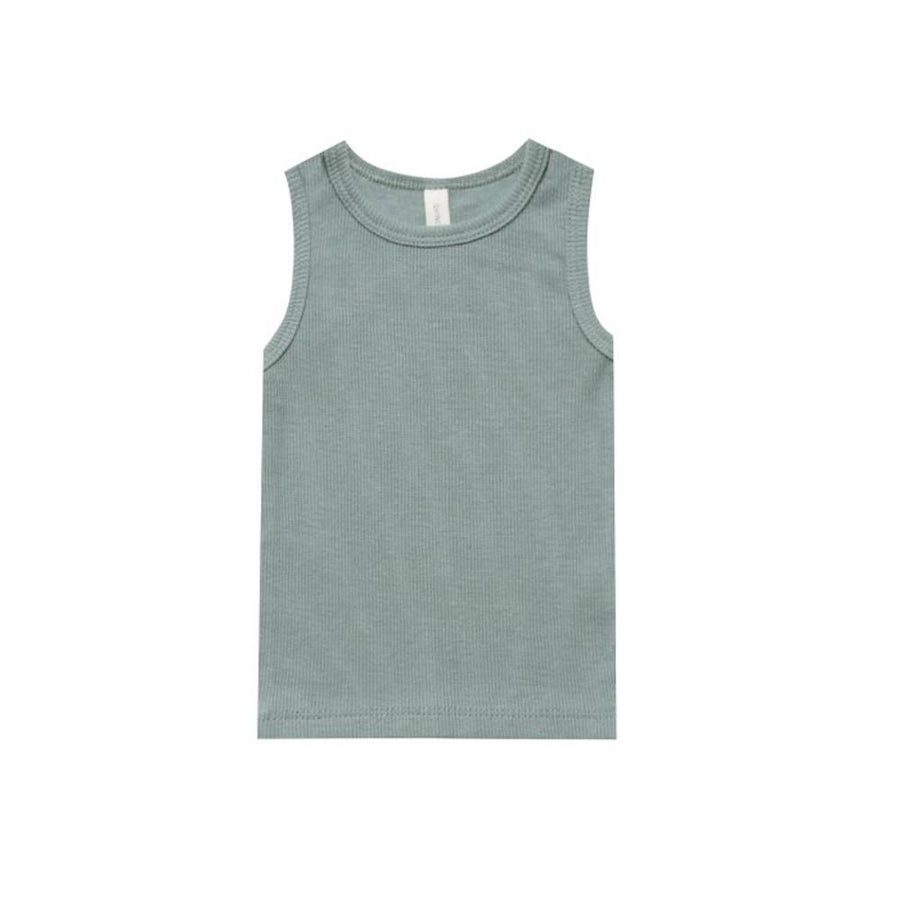 Ribbed Baby Tank Sea