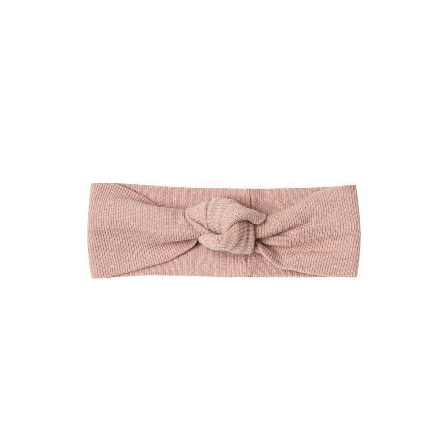 Ribbed Baby Turban Rose