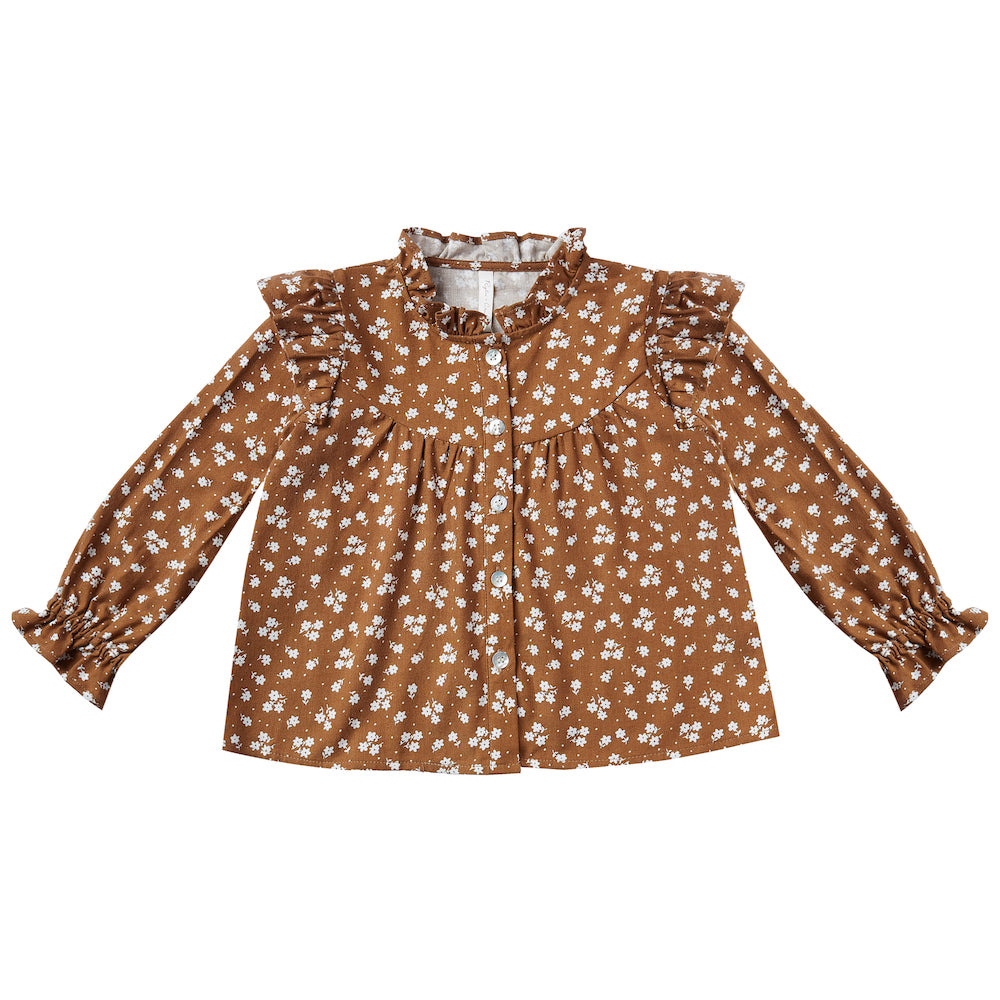 Rylee & Cru Ditsy Roony Blouse Cinnamon | Tiny People