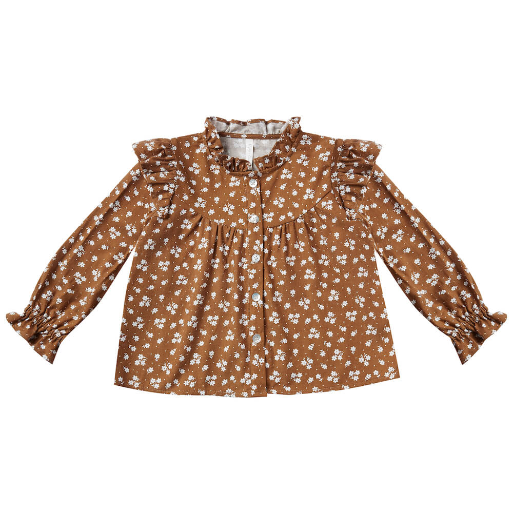 Rylee & Cru Victoria Blouse Cinnamon Ditsy | Tiny People