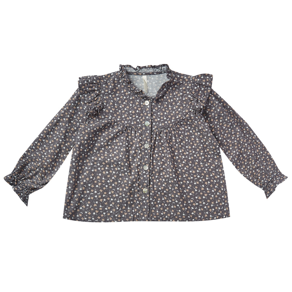 Rylee and Cru Ditsy Roony Blouse Washed Indigo | Tiny People
