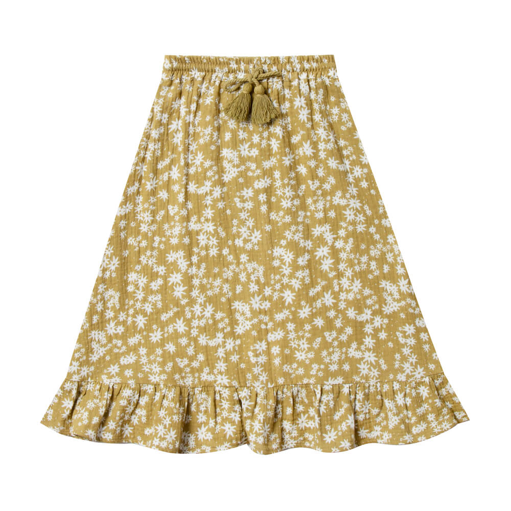Rylee and Cru Scattered Daisy Ruffle Midi Skirt | Tiny People