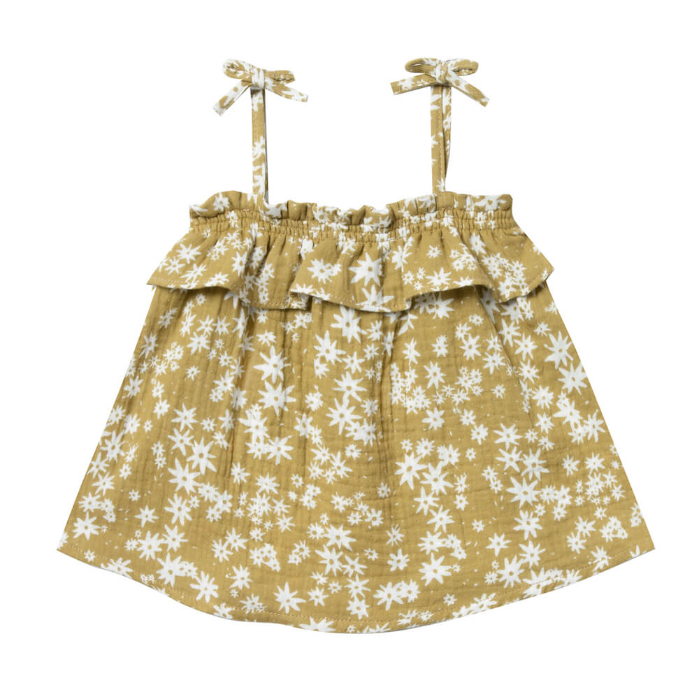 Rylee and Cru Scattered Daisy Ruffle Tube Top | Tiny People