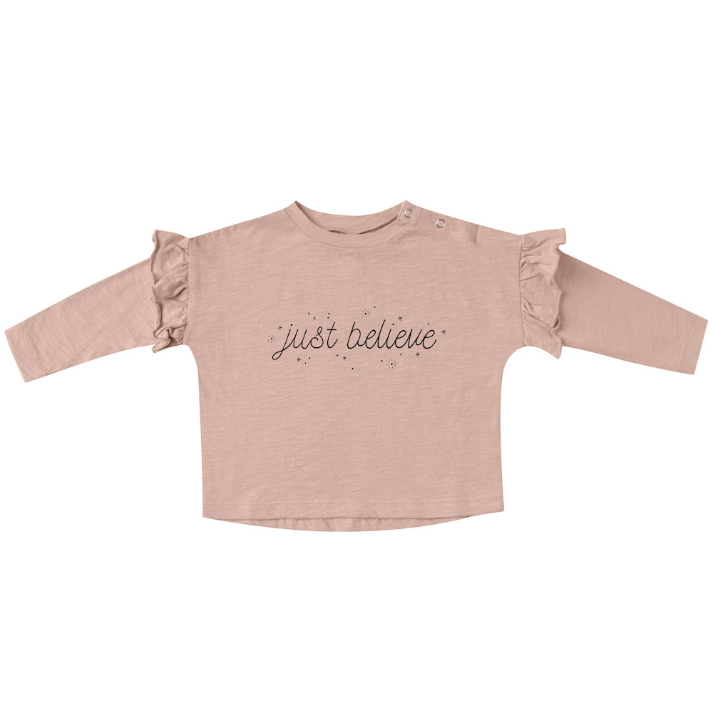 Rylee and Cru Just Believe Ruffle Tee | Tiny People