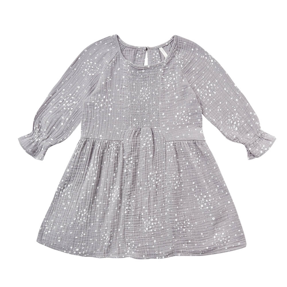 Rylee and Cru Moondust Sadie Dress Periwinkle | Tiny People