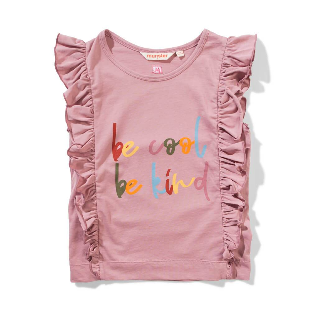 Missie Munster Sarita Tee Dusty Pink Girls Tops & Tees - Tiny People Cool Kids Clothes