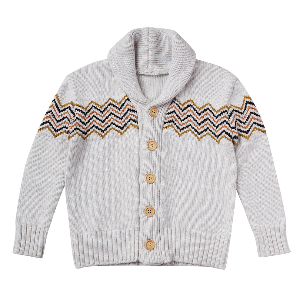 Rylee & Cru Shawl Cardigan Soft Grey | Tiny People