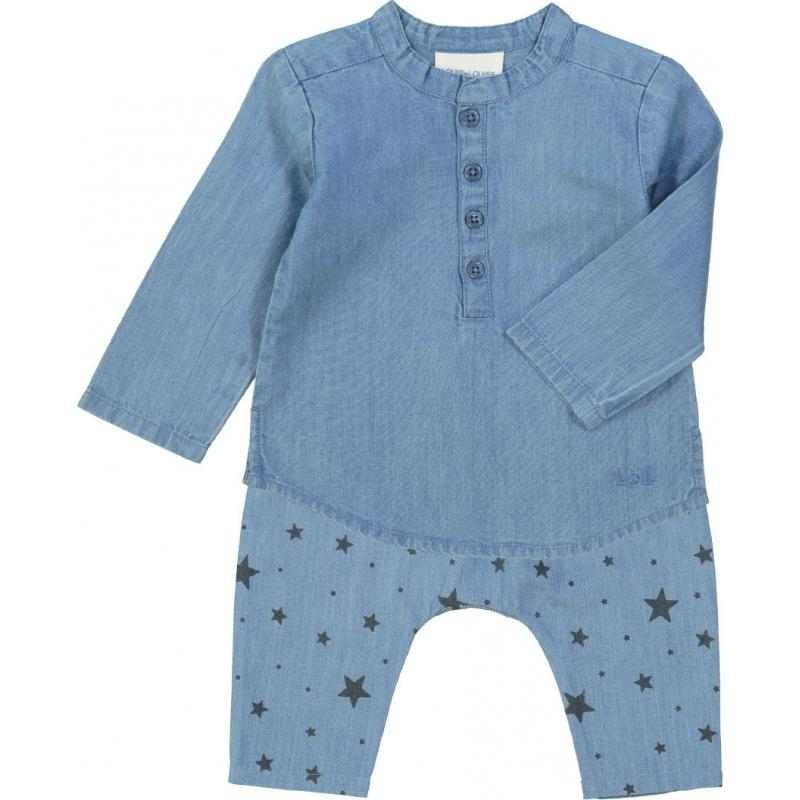 Louis Louise Shirt Grand-Pere Chambray Blue Tops - Tiny People Cool Kids Clothes
