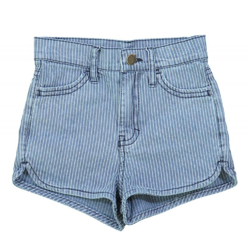 Short Andrea Stripes Denim White & Blue