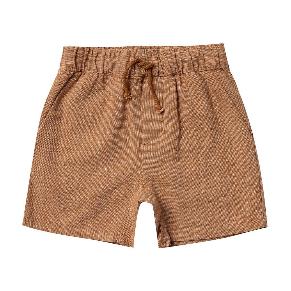 Rylee and Cru Bronze Drawstring Short  | Tiny People