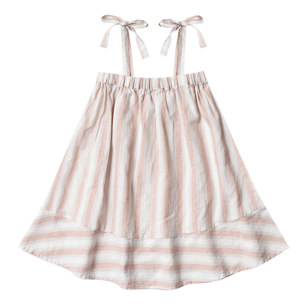 Rylee & Cru Shoulder Tie Dress Petal Stripe | Tiny People