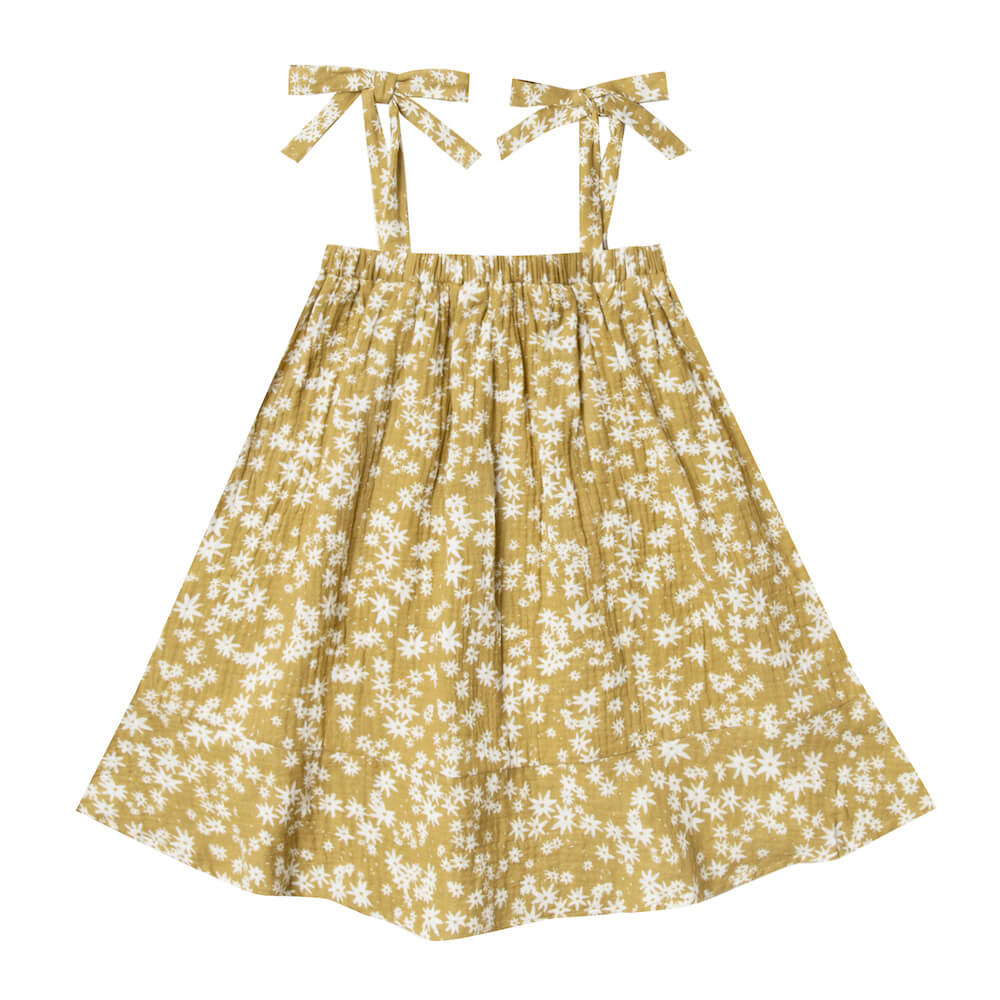 Rylee & Cru Shoulder Tie Dress Scattered Daisy | Tiny People