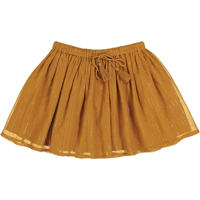 Skirt Opera Gold Lurex Stripes Cognac