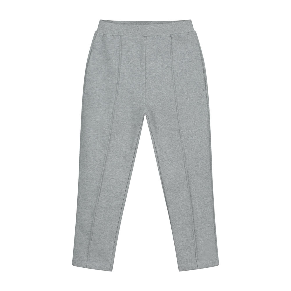 Gray Label Slim Fit Trousers (Grey Melange) | Tiny People