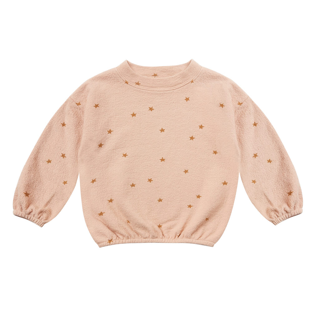Rylee & Cru Star Slouchy Pullover Rose | Tiny People