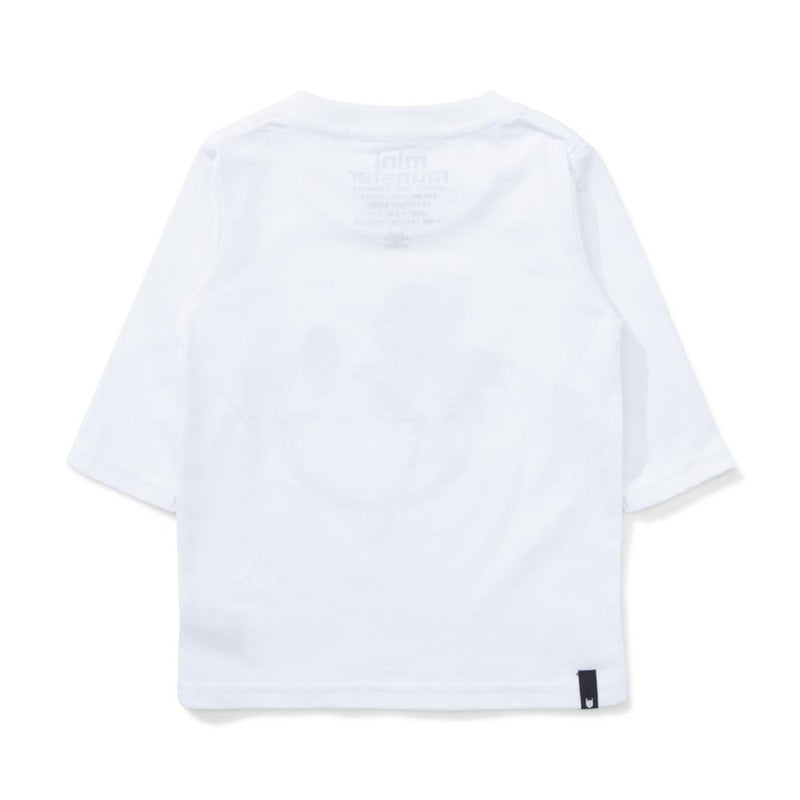 Smiley Long Sleeve Tee White