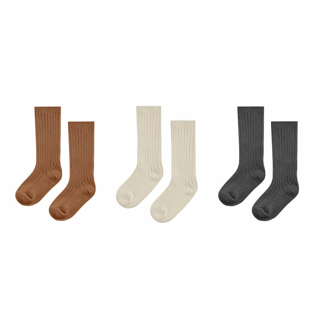 Rylee & Cru Knee High Socks Set Of Three | Tiny People