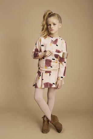 Soft Gallery Anouck Sweatshirt Misty Rose Peinture - Tiny People Cool Kids Clothes Byron Bay