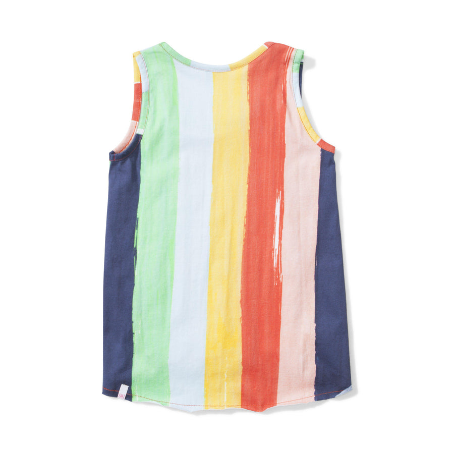 Summer Rainbow Stripe Singlet