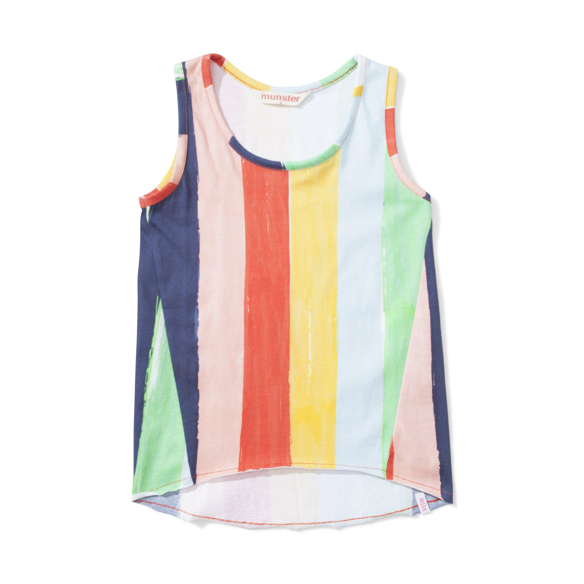 Missie Munster Summer Rainbow Stripe Singlet.