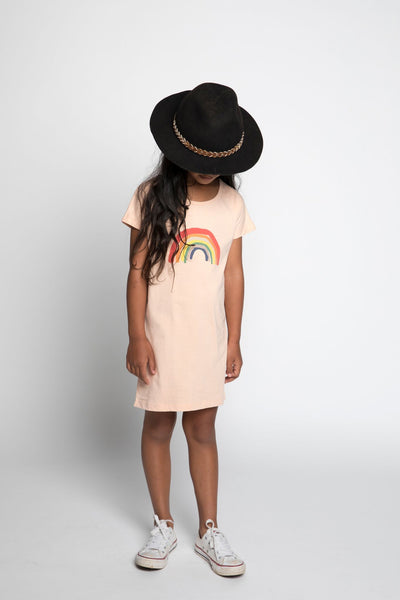 Missie Munster Sunray Ivy Pink Dress - Tiny People Cool Kids Clothes Byron Bay