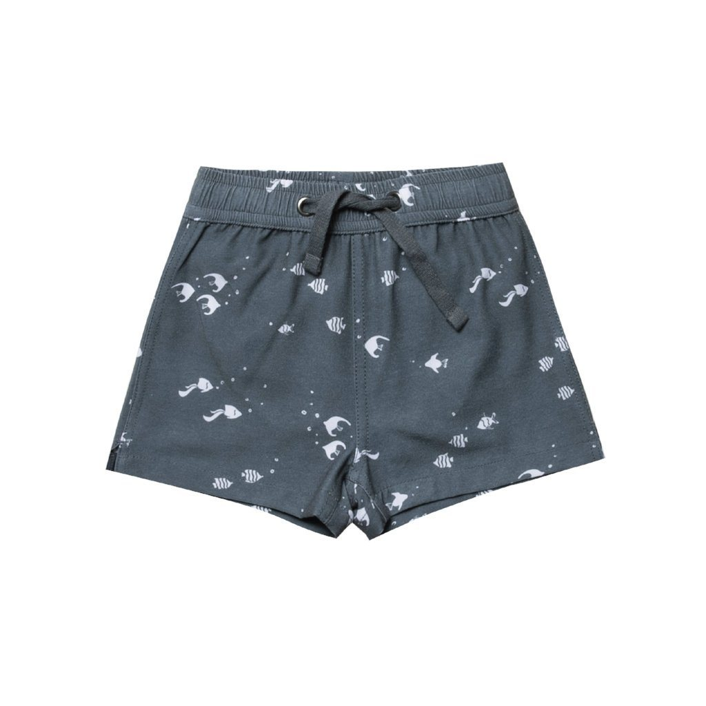 Angel Fish Swim Trunk Storm