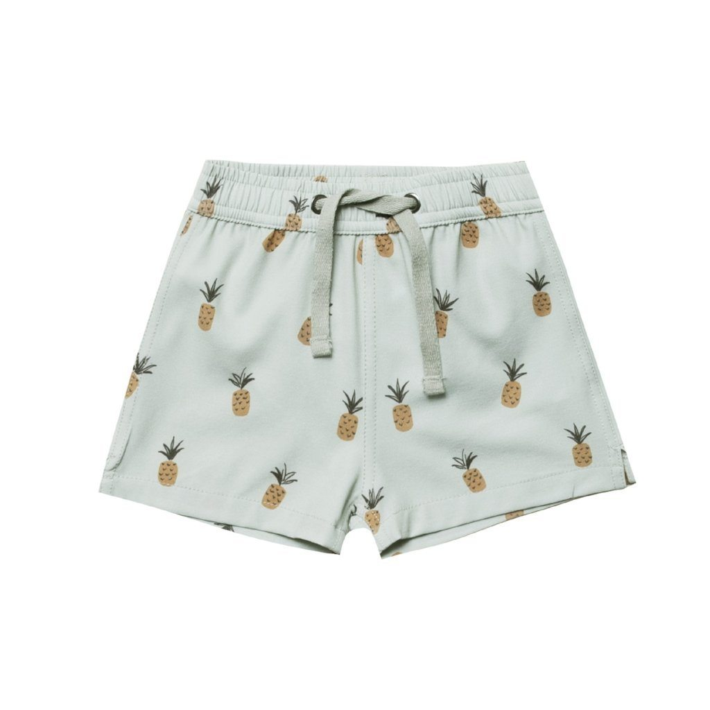 Pineapples Swim Trunks Seafoam