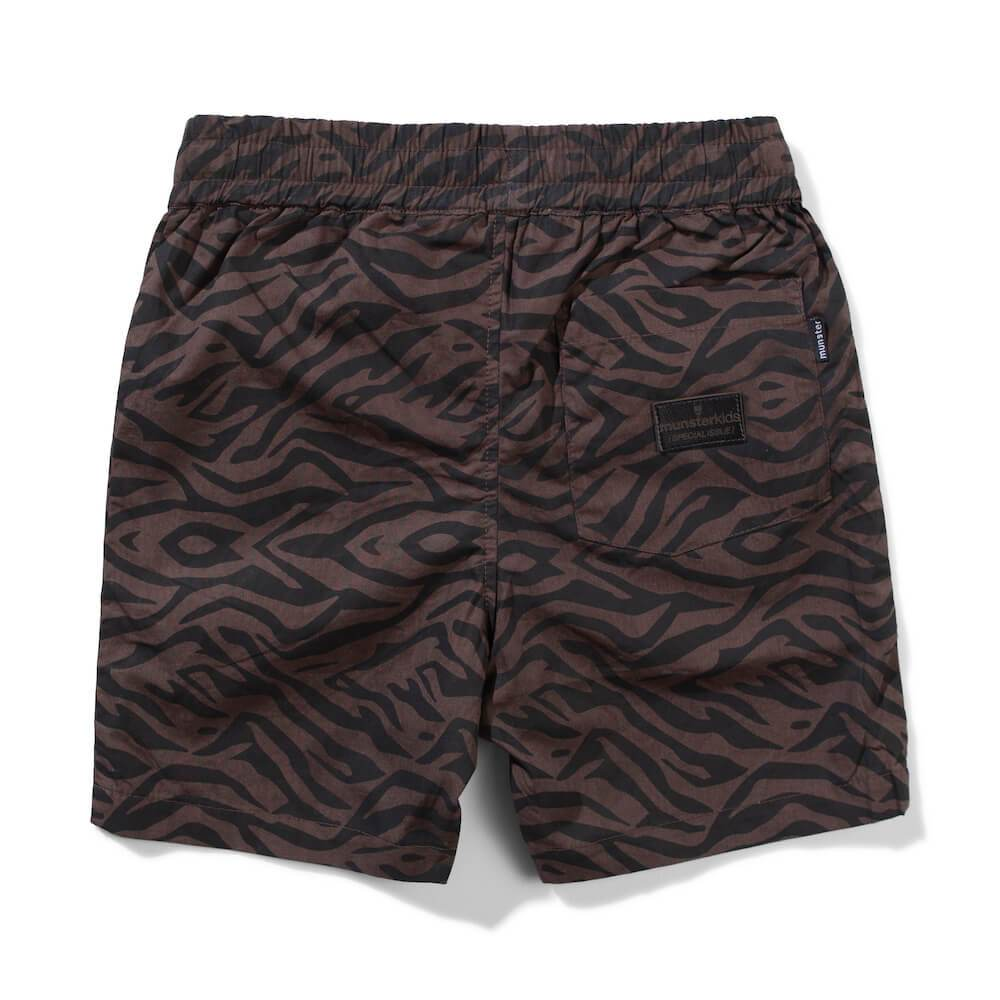 T Stripe Charcoal Short