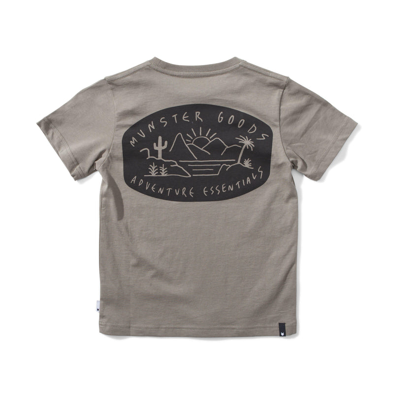 Munster the Goods Tee in Olive at Tiny People shop.