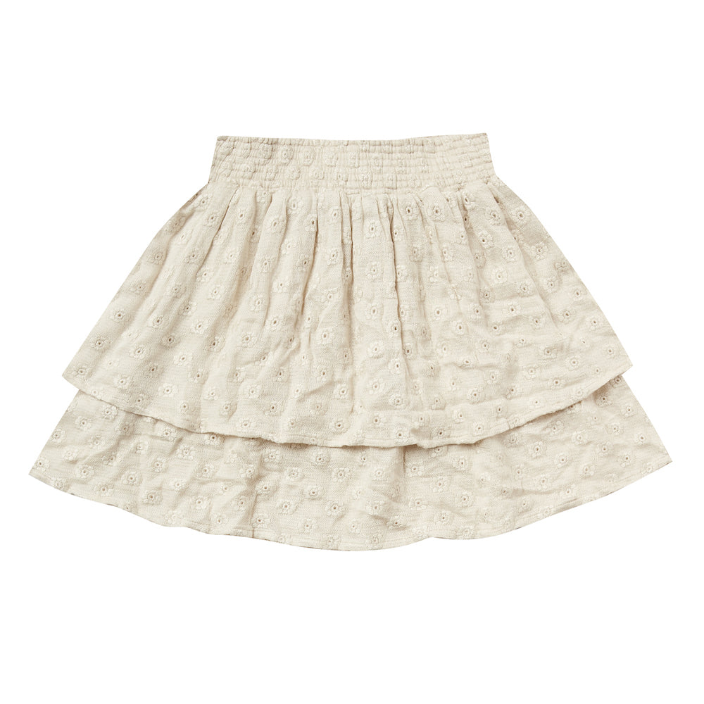 Rylee and Cru Tiered Mini Skirt Natural | Tiny People
