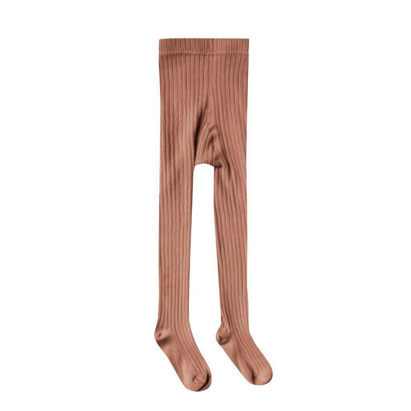 Solid Ribbed Tights Passionfruit
