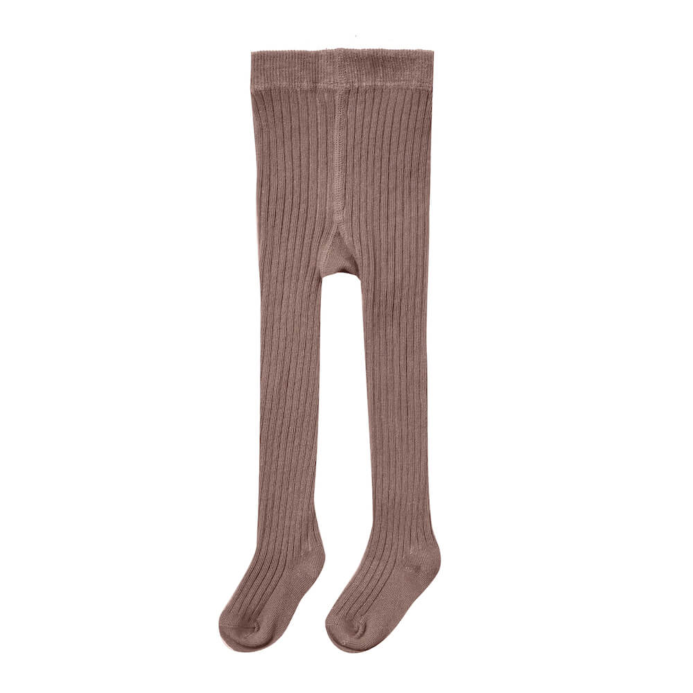 Rylee & Cru Rib Knit Tights Wine | Tiny People