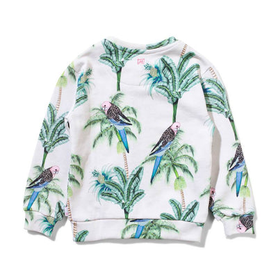 Tropical Blooms Zip Crew Oatmeal