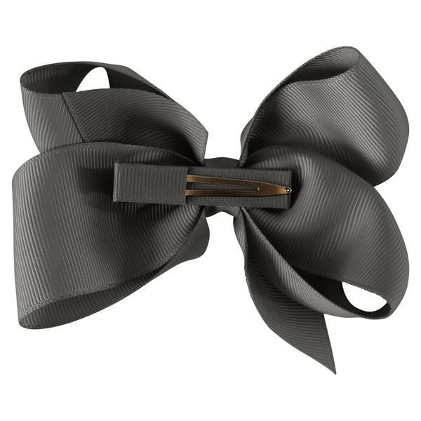 Milledeux Large Boutique Bow Clip - Dark Grey - Tiny People Cool Kids Clothes Byron Bay