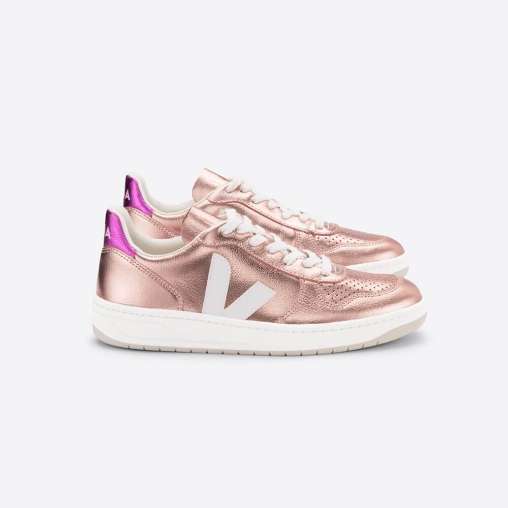 V-10 Leather Nacre White Fushia (Womens)