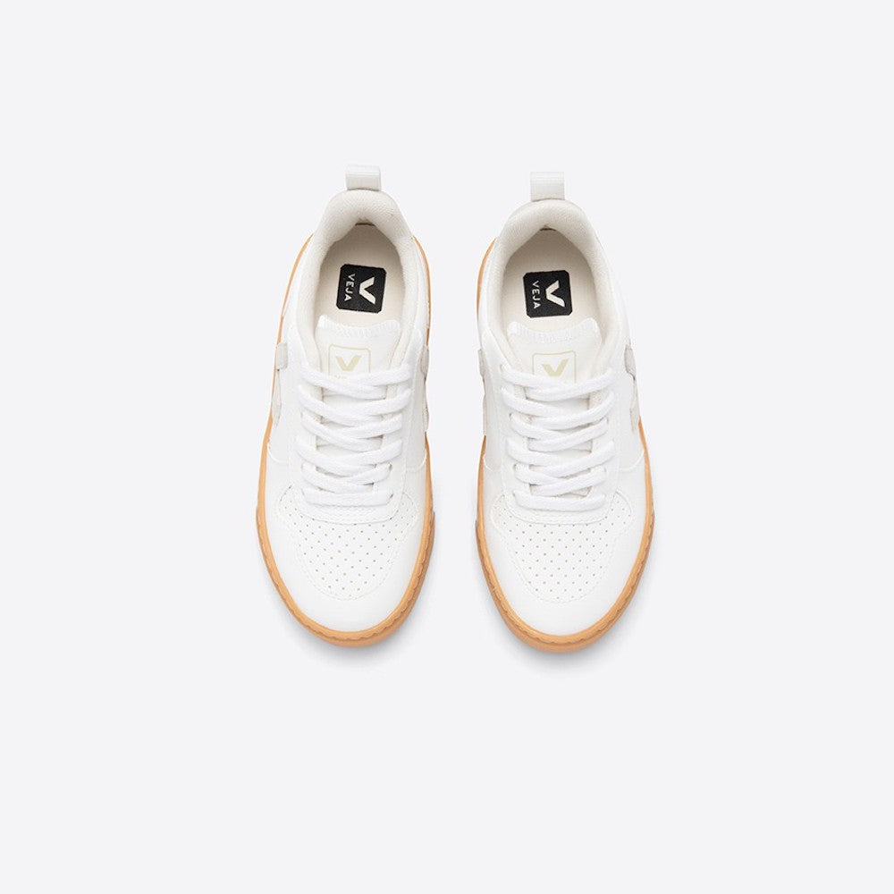 V-10 White Natural Gum Sole (Vegan)