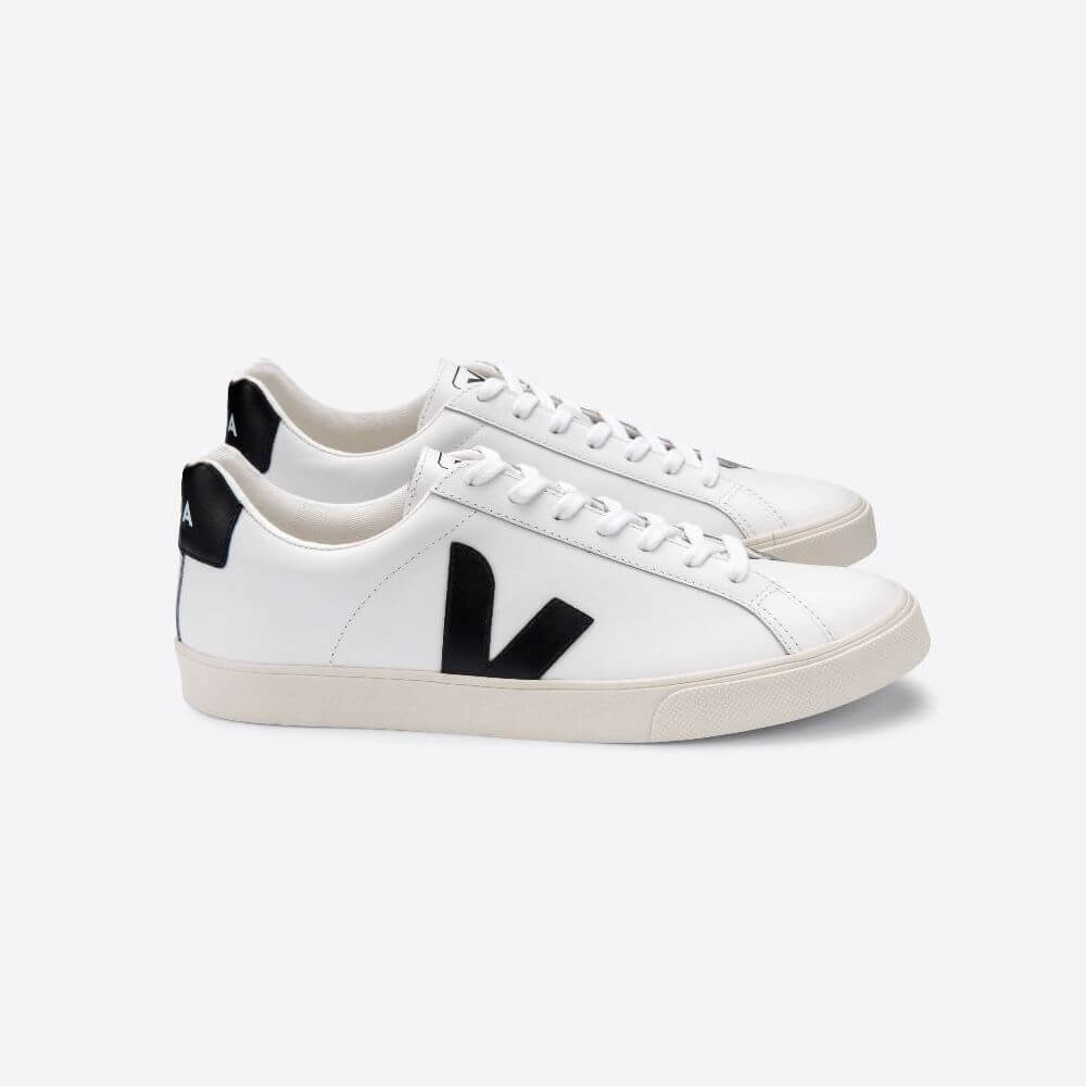 Veja Esplar Leather Extra White Black (Womens) | Tiny People