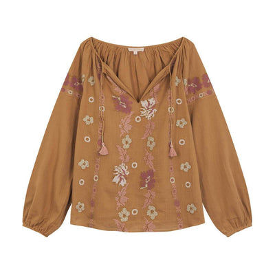 Louise Misha Women's Flores Blouse Nuts Womens Tops - Tiny People Cool Kids Clothes