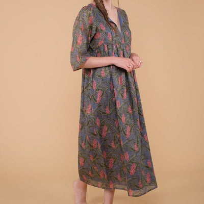 Women's Gali Dress Lagoon Leaves