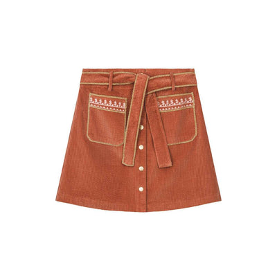 Louise Misha Women's Juana Skirt Terracota Womens Bottoms - Tiny People Cool Kids Clothes