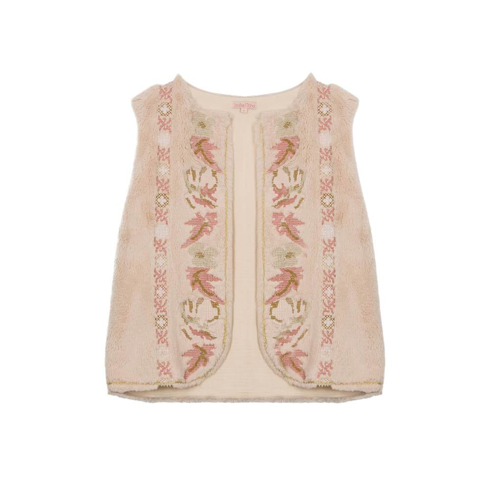 Louise Misha Women's Varvara Vest Cream Womens Tops - Tiny People Cool Kids Clothes